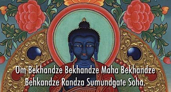 Buddha Weekly Medicine Buddha and Mantra dark Buddhism