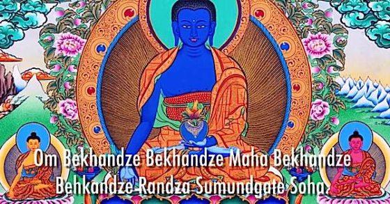 Buddha Weekly Medicine Buddha with mantras Buddhism