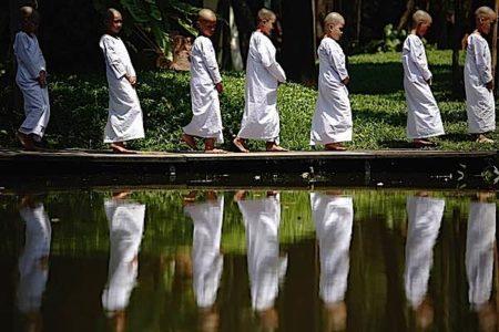 Buddha Weekly Novices walking meditation Buddhism