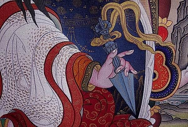 Buddha Weekly Phurba in the hand Buddhism
