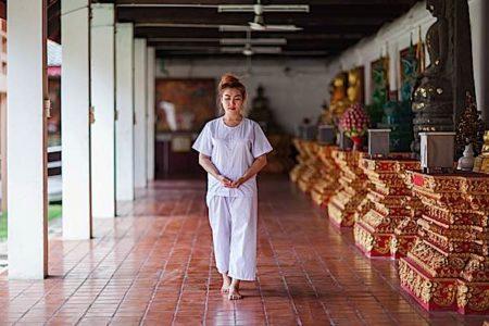 Buddha Weekly Walking Meditation Buddhist Nun in Temple Buddhism