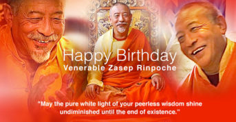 Happy Birthday Venerable Zasep Rinpoche: May the pure white light of your peerless wisdom shine undiminished until the end of existence