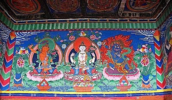 Buddha Weekly 3 great bodhisattvas manjushri avalokiteshvara vajrapani Buddhism