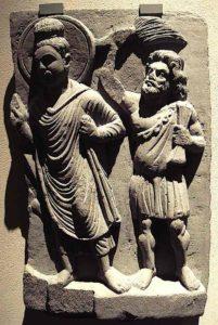 Buddha Weekly Buddha and the protector Vajrapani behind Buddhism