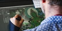 "Painter and digital Thangka artist Jampay Dorje aims to bring ""Thangka painting into a modern era"" with spectacular art, lessons for students, and a life-long project to illustrate all of the 11 Yogas of Naropa"