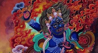 "The Hand of Buddha defeats the three poisons : Vajrapani (literally, ""Vajra Hand"") — Guardian of Shakyamuni Himself; Vajrapani, the power of the mind to overcome obstacles such as pride, anger, hate and jealousy"