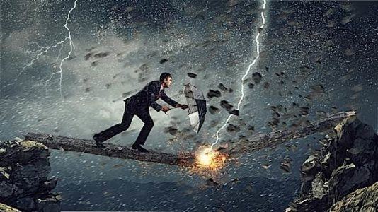 Buddha Weekly fear metaphor man running acorss log struck by lightning Buddhism