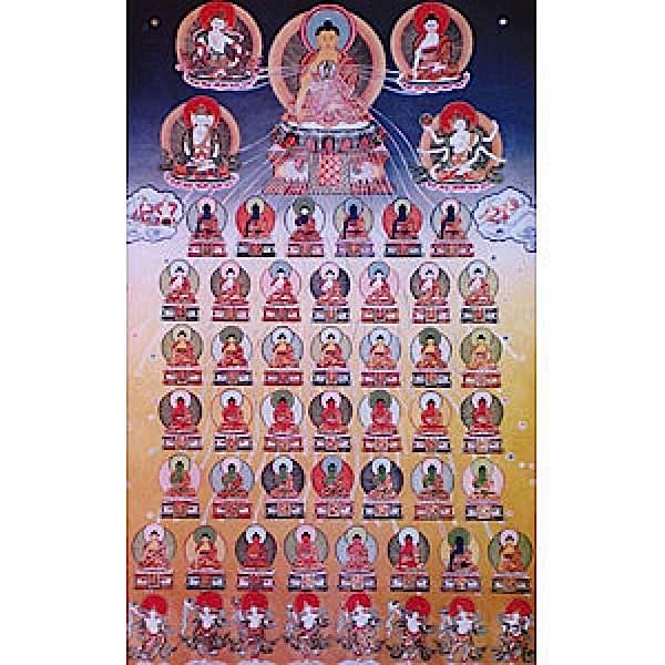 Buddha Weekly 35 Buddhas Poster with Medicine Guru Buddhism