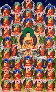 Buddha Weekly 35 Buddhas thangka beautiful Buddhism