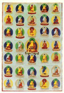 Buddha Weekly 35buddhas tangkha Buddhism