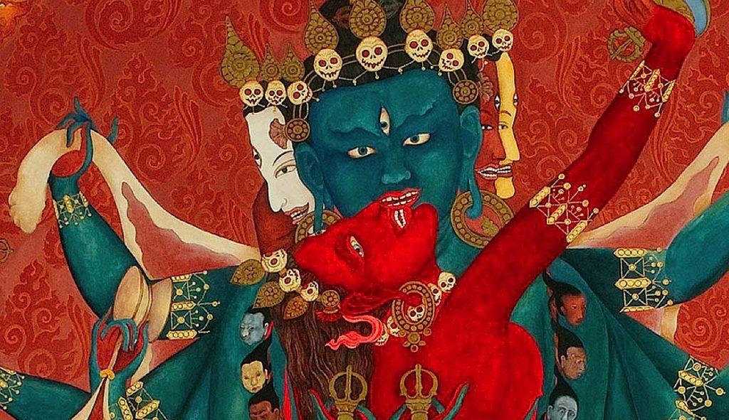 Buddha Weekly Feature image Chakrasmvara Heruka in union with Vajrayogini Buddhism