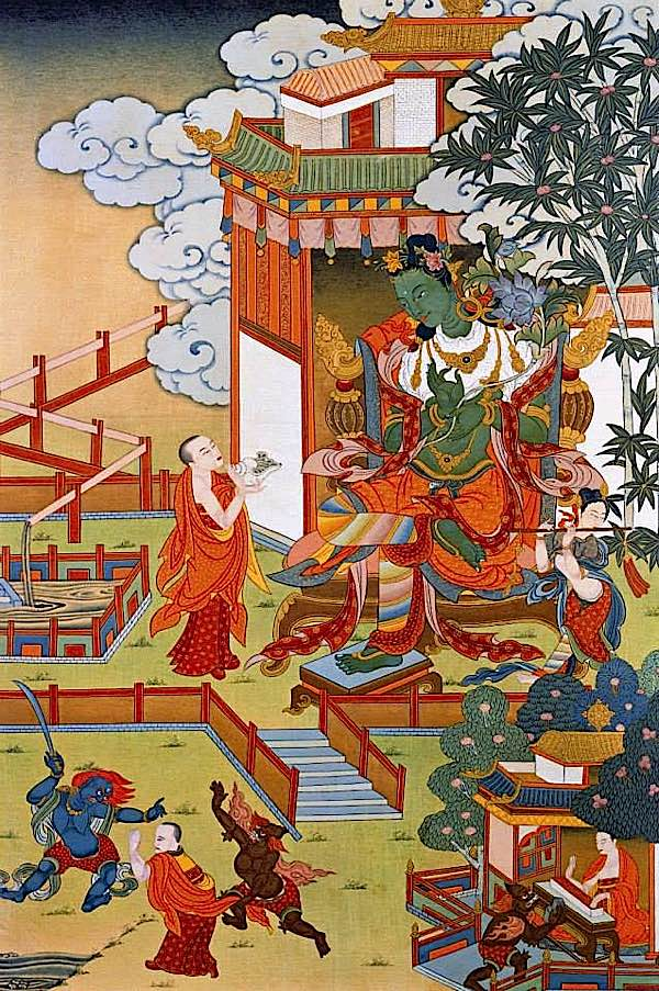 Buddha Weekly Green Tara Classical 2 with monk Buddhism