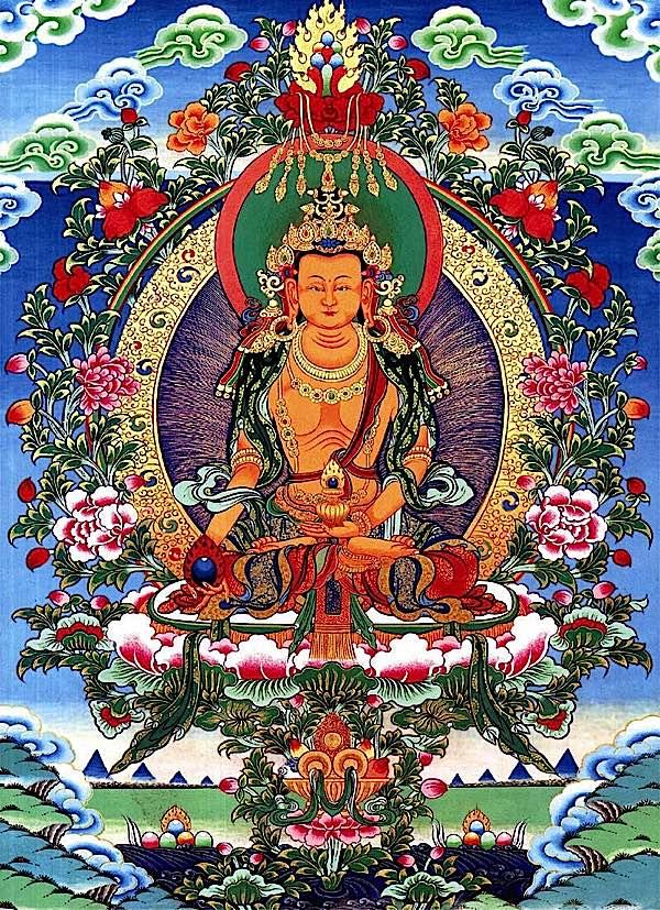 Buddha Weekly Ksitigarbha in Tibetan style Thangka Buddhism