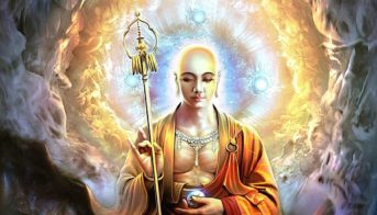 Lama Zopa Rinpoche and other teachers recommend Kṣitigarbha mantra and practice for times of disaster, especially hurricane and earthquake, because of the great Bodhisattva's vow