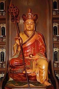Buddha Weekly Ksitigarbha Bodhisattva Wood Statue.jpeg Buddhism