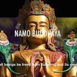 Buddha Weekly Namo Buddha ya mantra video Refuge in three jewels and four immeasurables Buddhism