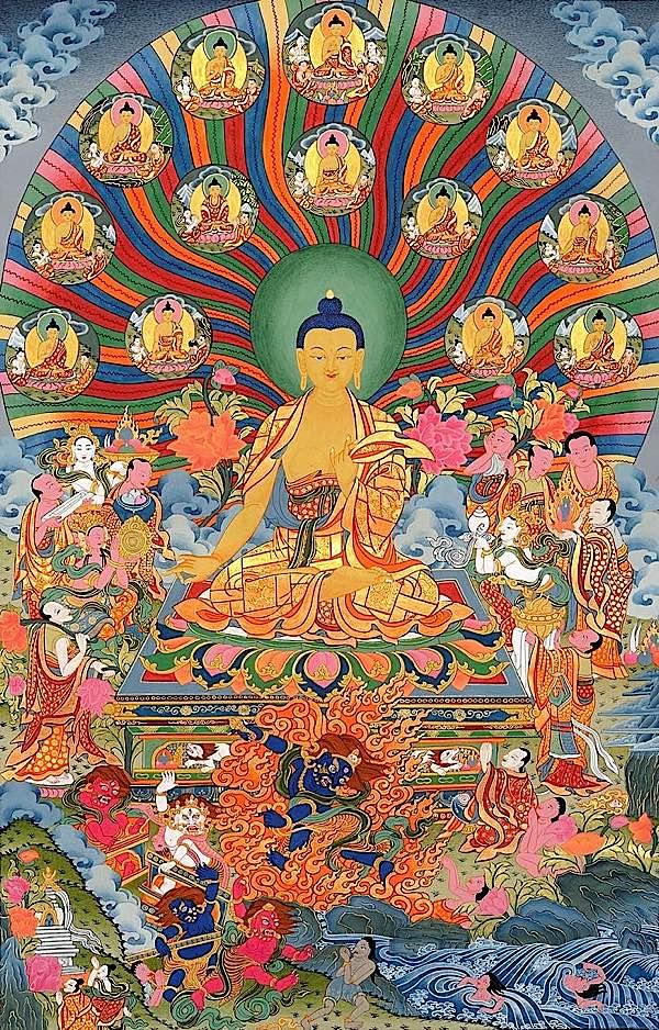 Buddha Weekly Shakyamuni and 35 Buddhas of Confession Buddhism