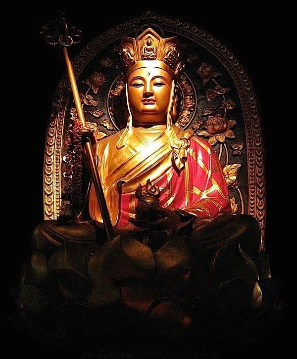 Buddha Weekly Tsitigarbha statue in temple Buddhism