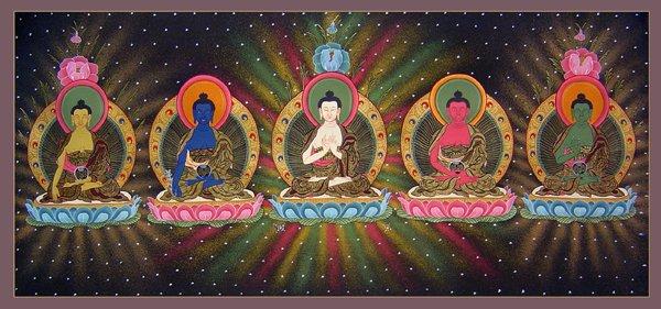 Five Dyani Buddhas 2