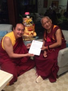 Namdrol Rinpoche with Lama Zopa Rinpoche