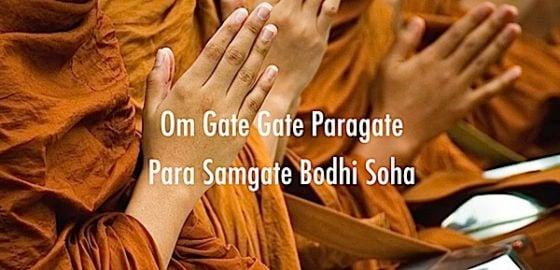 Buddha Weekly Gate Gate Paragate Para Samgate Bodhi Soha Video Chanting Music Yoko Dharma Heart Sutra Buddhism