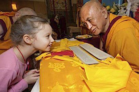 Buddha Weekly Lama Zopa Rinpoche and a child Buddhism