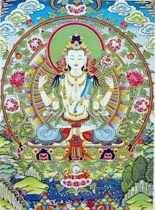 Buddha Weekly Avalokiteshvara four armed bodhisattva of compassion Buddhism
