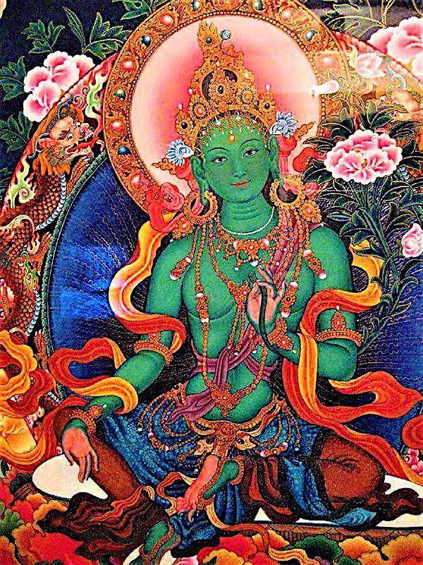 Buddha Weekly Green Tara Bodhisattva Savior from fears buddha Buddhism