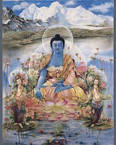 Buddha Weekly Medicine Buddha beautiful tangkha Buddhism