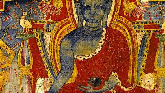 Buddha Weekly Medicine Buddha Sutra Ancient mural in temple Buddhism