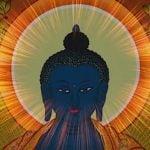 Buddha Weekly Medicine Buddha Sutra glow around head of Buddha Buddhism