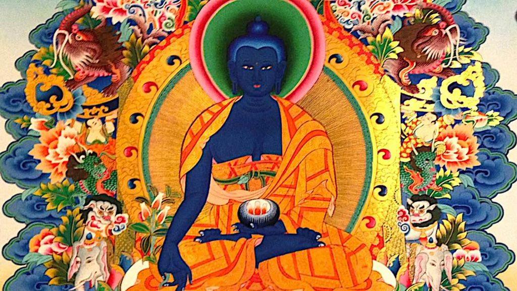 Buddha Weekly Medicine Buddha Sutra tangkha Buddhism