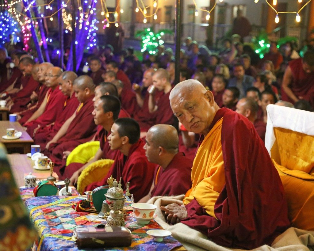 Lama Zopa at Lama Chopa Tsog puja