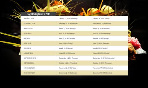 Tsog offering dates Buddha Weekly