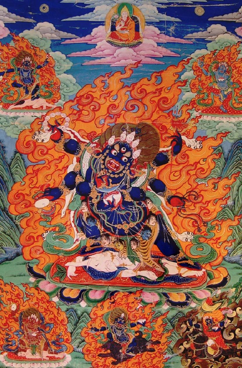 Beautiflul Black Mahakala tangkha