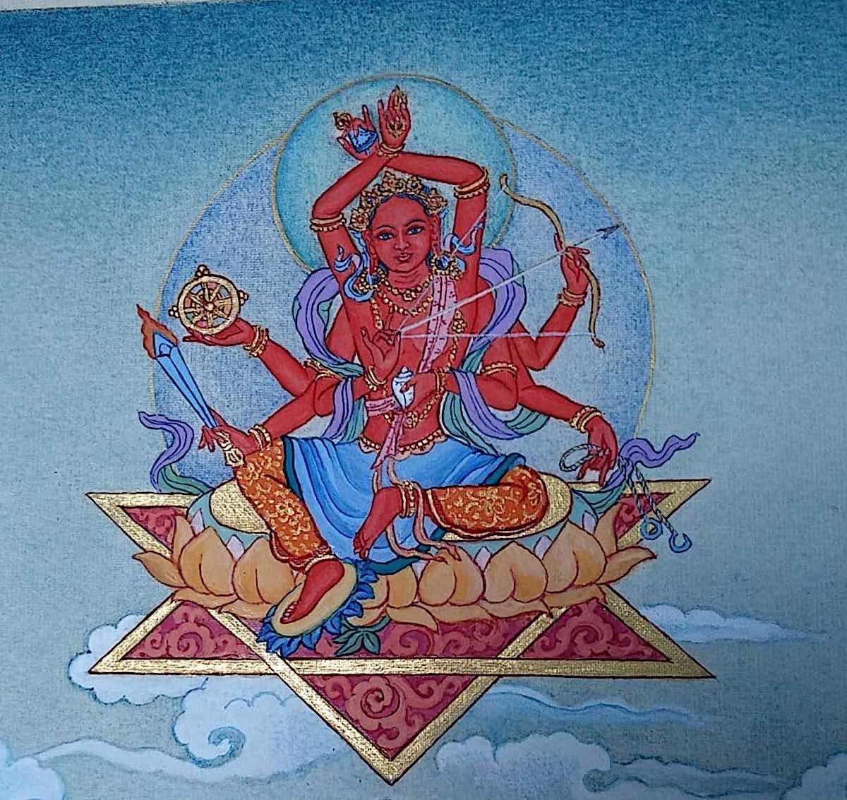 Buddha Weekly 1 Tara Swift and Heroid Pravira Tara 21 Taras Thankha by Angeli Lhadripa Shkonda Buddhism