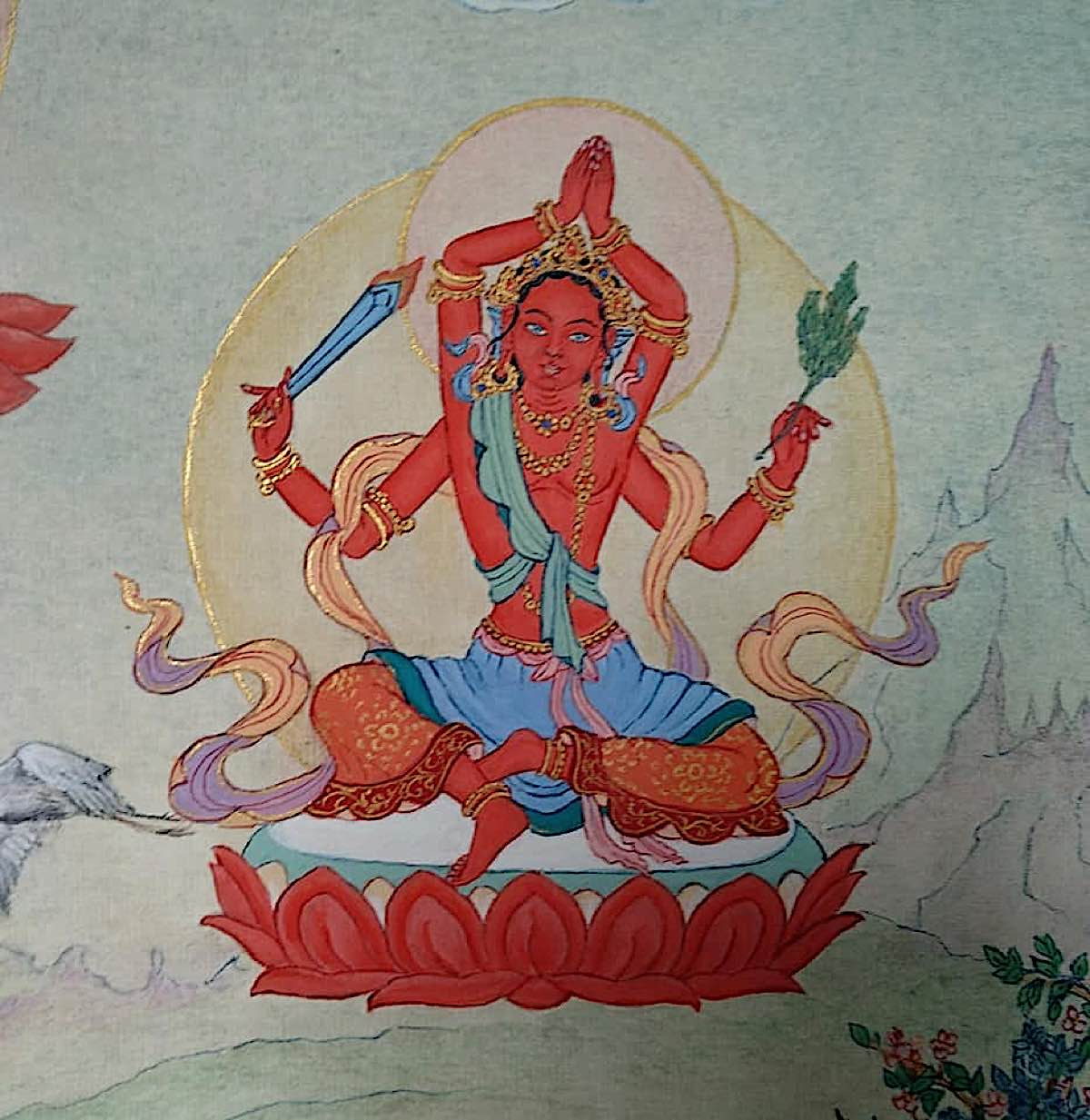 Buddha Weekly 10 Tara Dispelling All Sorrow Shoka Vinodana Tara 21 Taras Thankha by Angeli Lhadripa Shkonda Buddhism