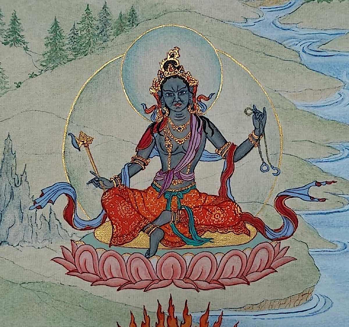 Buddha Weekly 11 Tara Summoner of All Beings Dispeller of Misfortune Jagad Vasi Vipan Nirbarhana Tara 21 Taras Thankha by Angeli Lhadripa Shkonda Buddhism