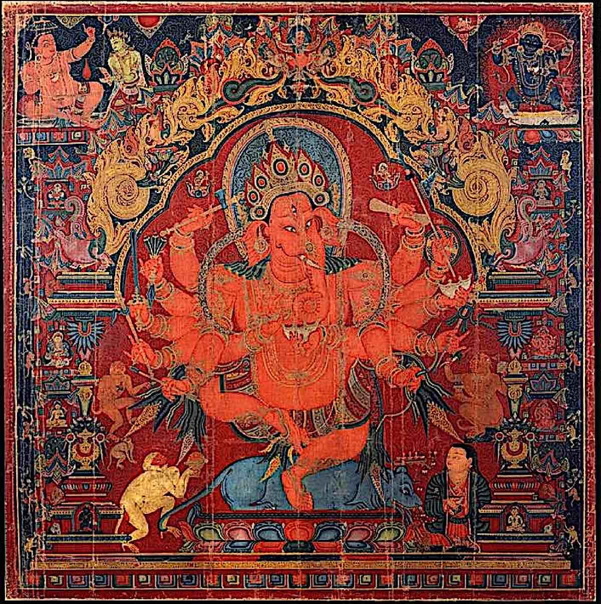 Buddha Weekly 12 Armed Ganapti Ganesha Buddhism