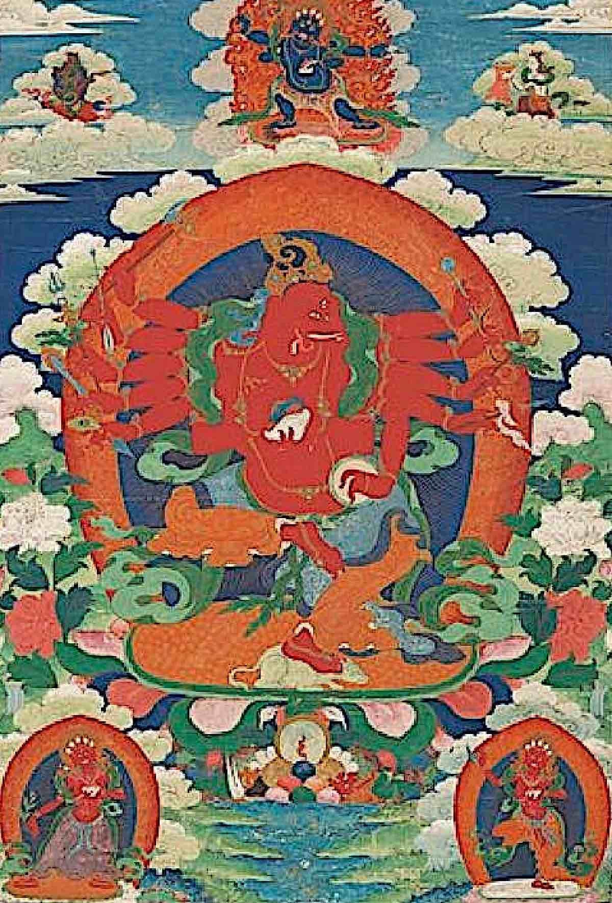 Buddha Weekly 12 Armed Maha Rakta Ganapati Himalayan art Buddhism