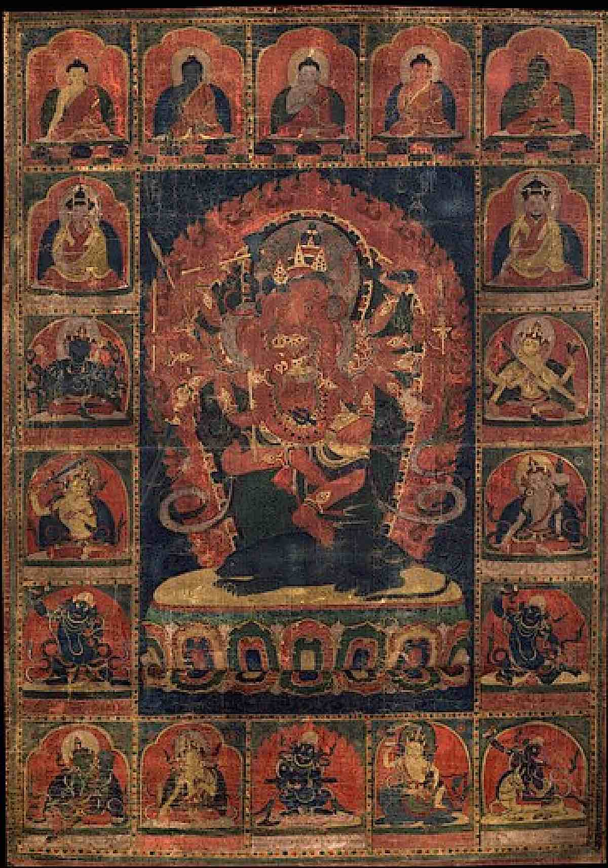 Buddha Weekly 12 armed Maha Rakta Ganapati in the Rubin Museum collection Buddhism