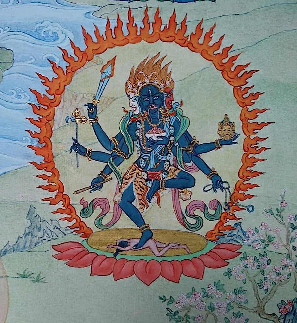 Buddha Weekly 14 Tara the Wrathful Summoner Bhrkuti Tara 21 Taras Thankha by Angeli Lhadripa Shkonda Buddhism
