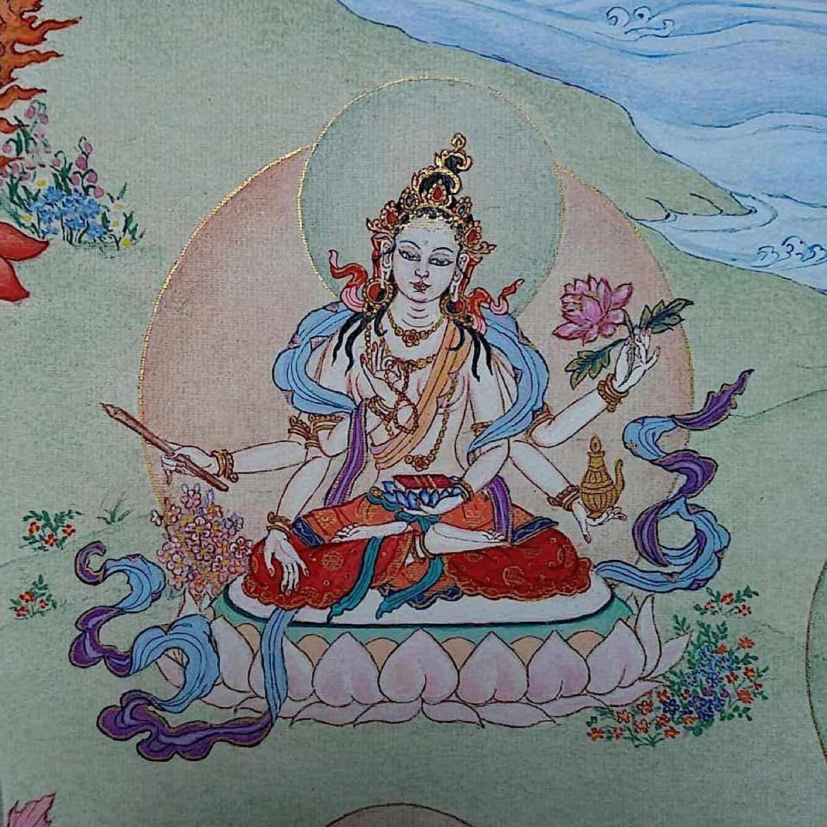 Buddha Weekly 15 Tara the Great Peaceful One Maha Santi Tara 21 Taras Thankha by Angeli Lhadripa Shkonda Buddhism