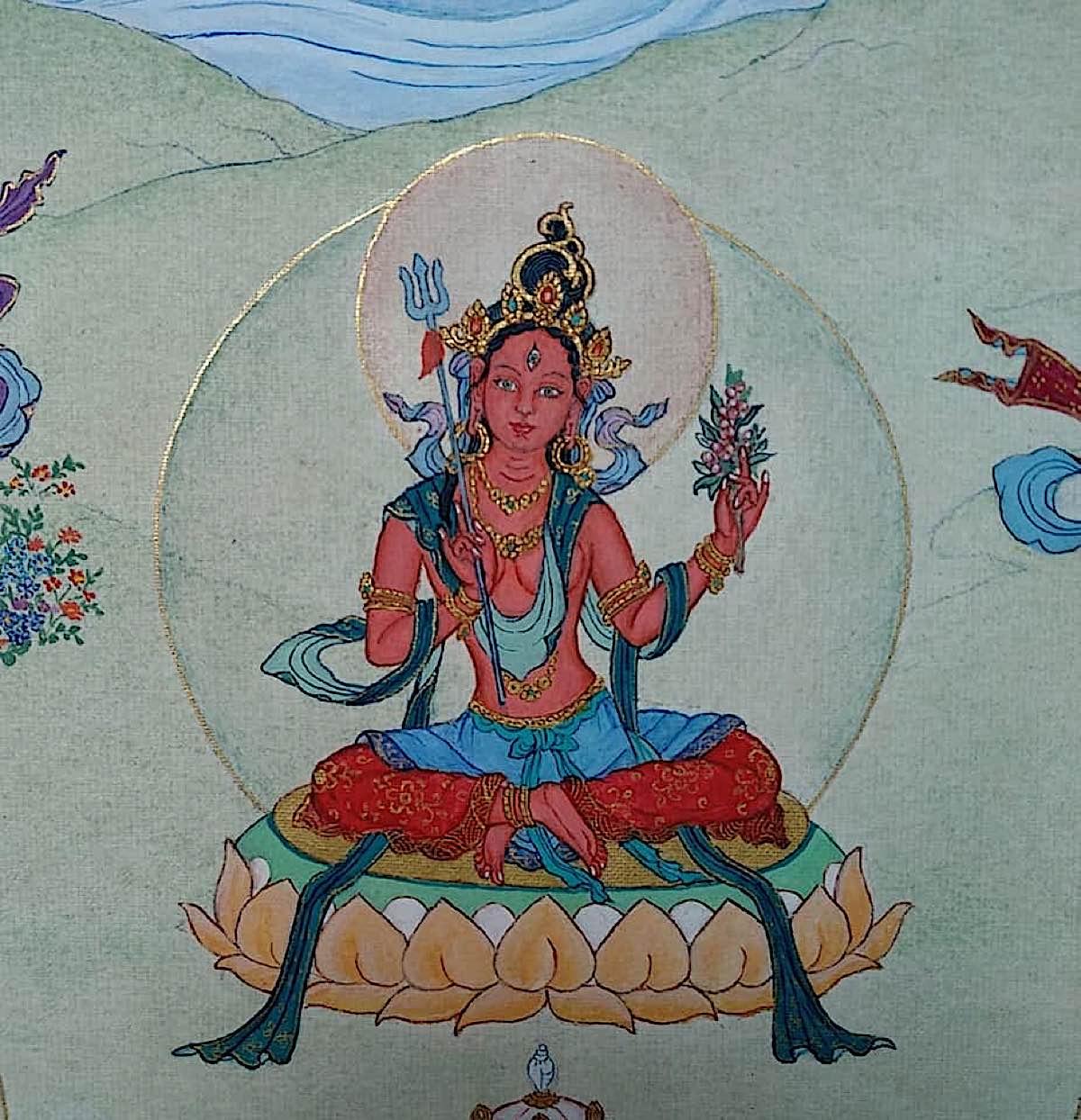 Buddha Weekly 16 Tara Destroyer of All Attachment Raga Nisundana Tara 21 Taras Thankha by Angeli Lhadripa Shkonda Buddhism