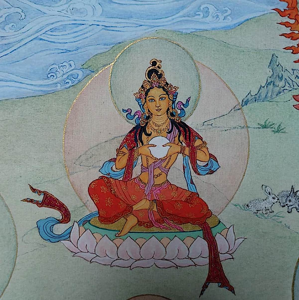 Buddha Weekly 17 Tara Accomplisher of All Bliss Sukha Sadhana Tara 21 Taras Thankha by Angeli Lhadripa Shkonda Buddhism