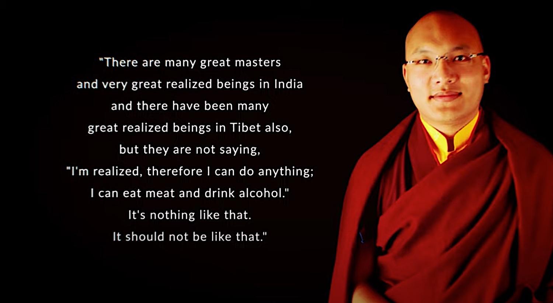Buddha Weekly 17th Karamapa Urgyen Dorje No great masters eat meat Buddhism