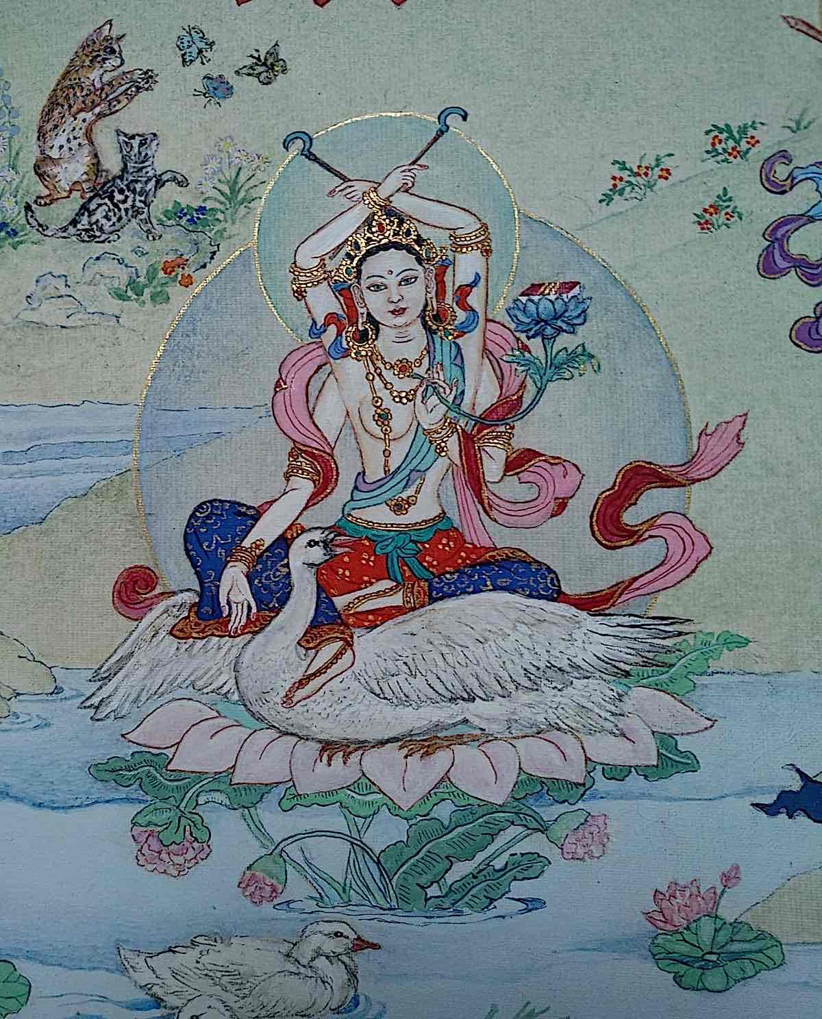 Buddha Weekly 18 Tara the Victorious Sita Vijaya Tara 21 Taras Thankha by Angeli Lhadripa Shkonda Buddhism