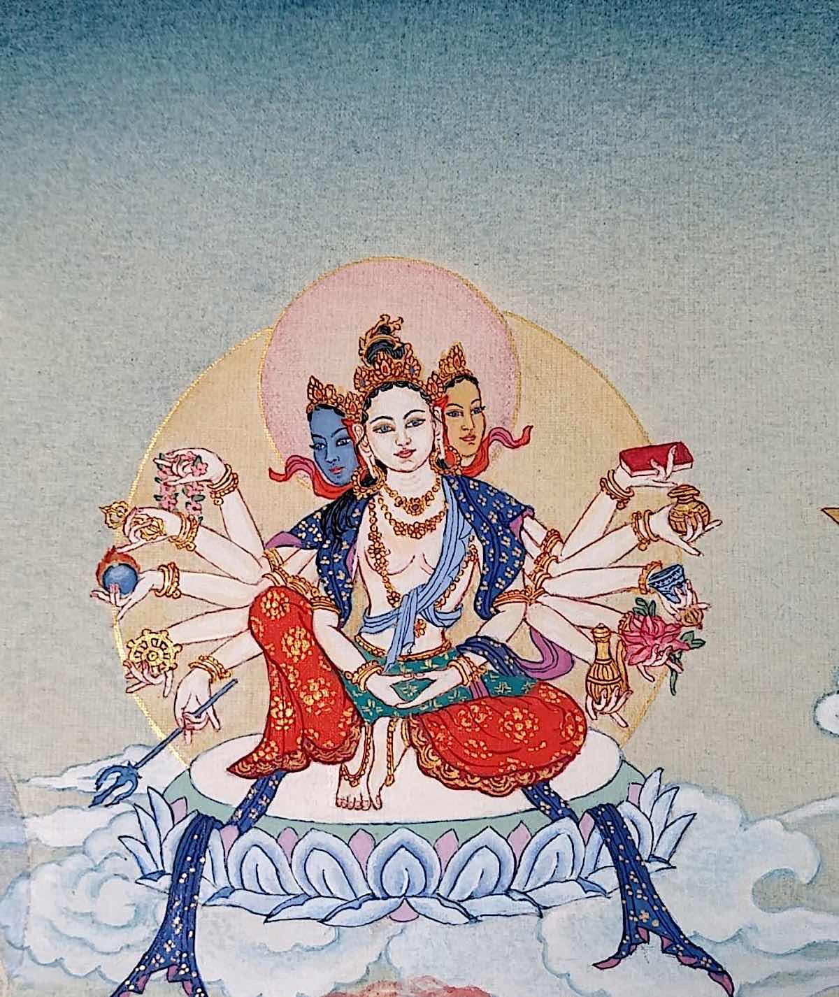 Buddha Weekly 2 Tara White as Autumn Moon Candra Kanti Tara 21 Taras Thankha by Angeli Lhadripa Shkonda Buddhism