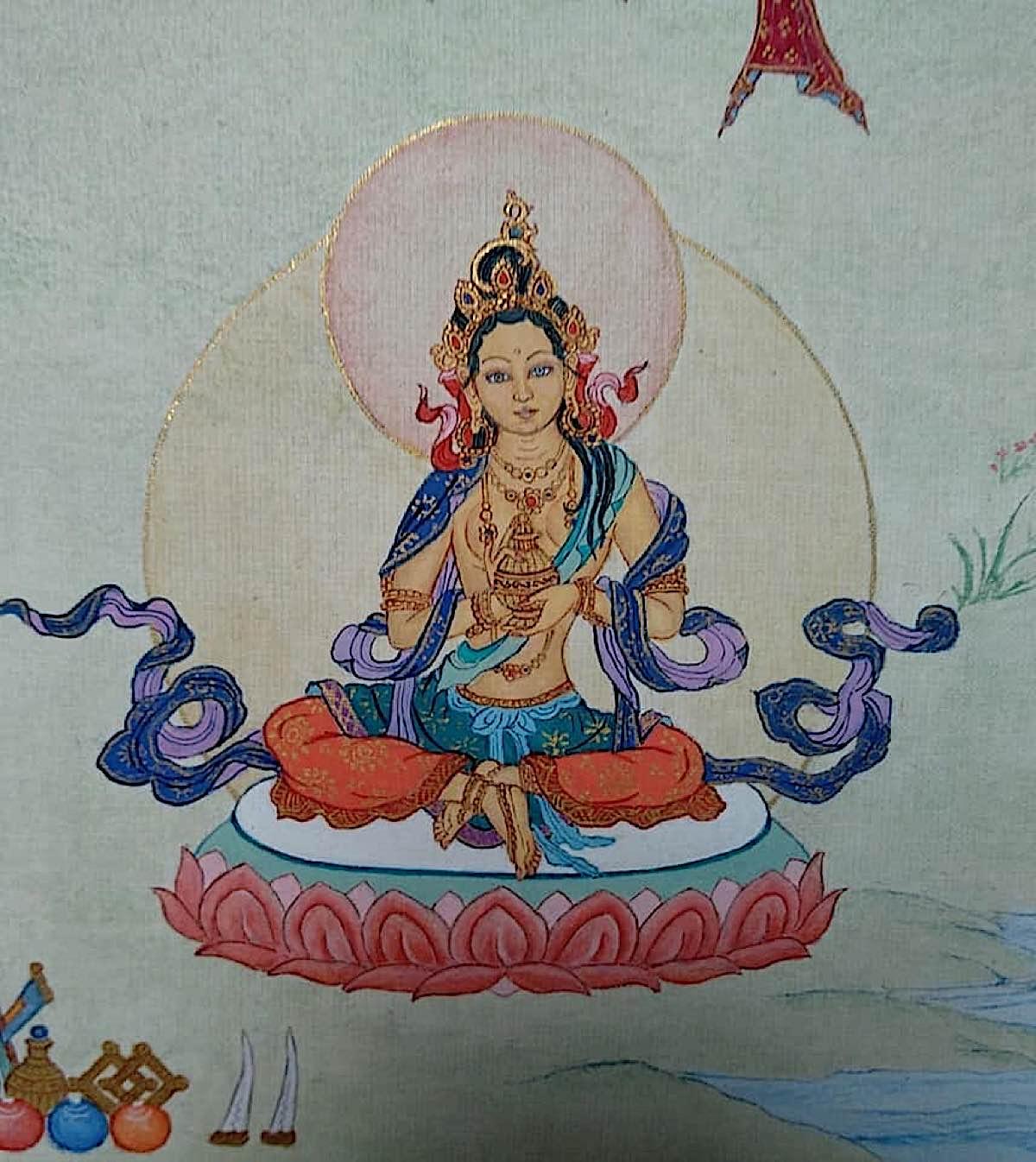 Buddha Weekly 20 Tara Source of All Attainments Siddhi Sambhava Tara 21 Taras Thankha by Angeli Lhadripa Shkonda Buddhism