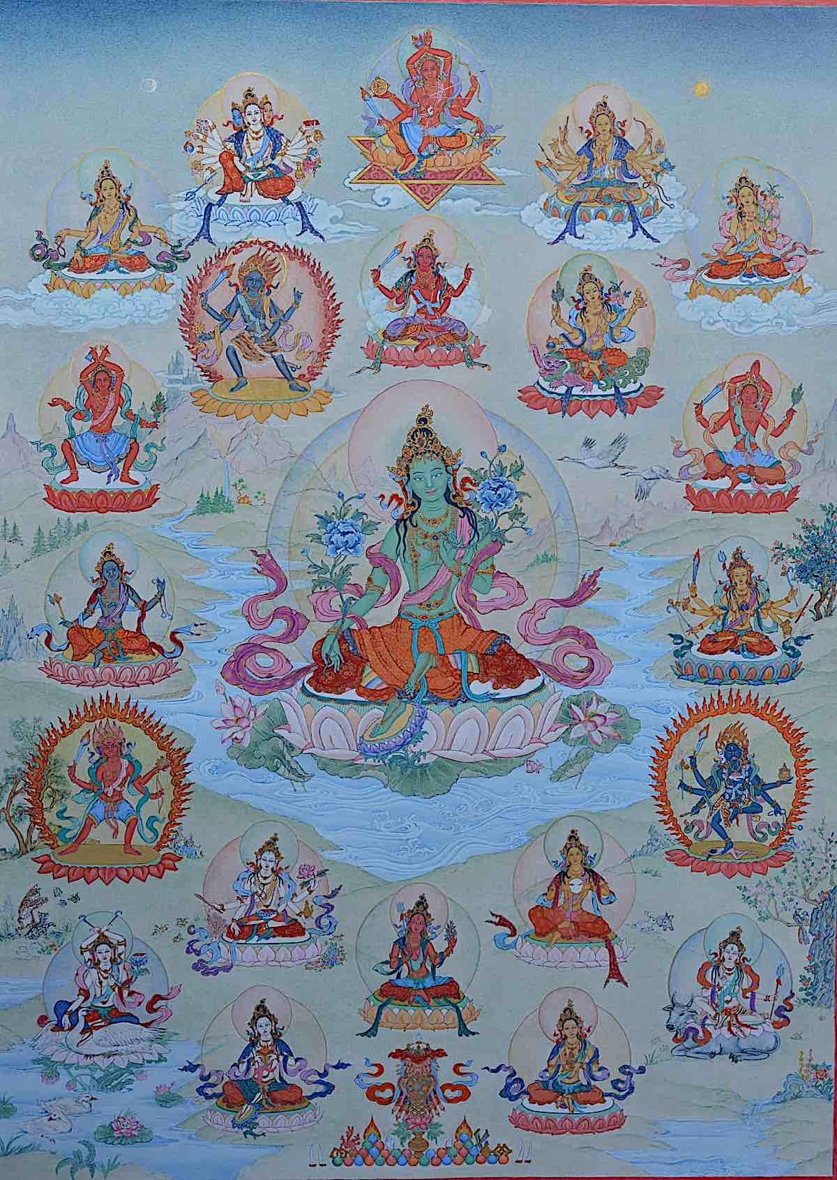 Buddha Weekly 21 Taras Surya Gupta Thangka Angeli Lhadripa Snkonda Buddhism